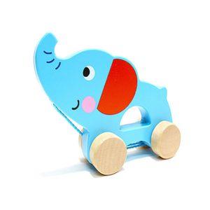 유아 선물 아기 걸음마 친구 끌기 코끼리 장난감 완구