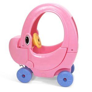 키즈 실내 아기 유아 차 붕붕카 코끼리 지붕차 핑크