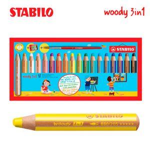 스타빌로 우디 3IN1 색연필 18색세트