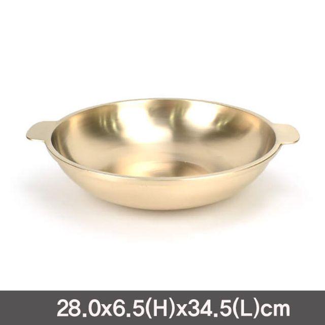 유기 전골냄비 방짜유기직화냄비(중)-28cm
