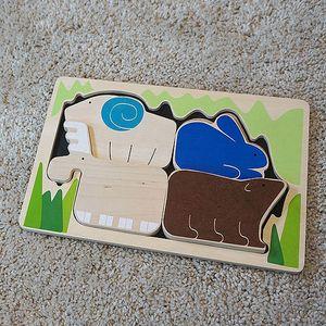 블루리본 숲속 애니멀퍼즐 원목블럭 유아퍼즐