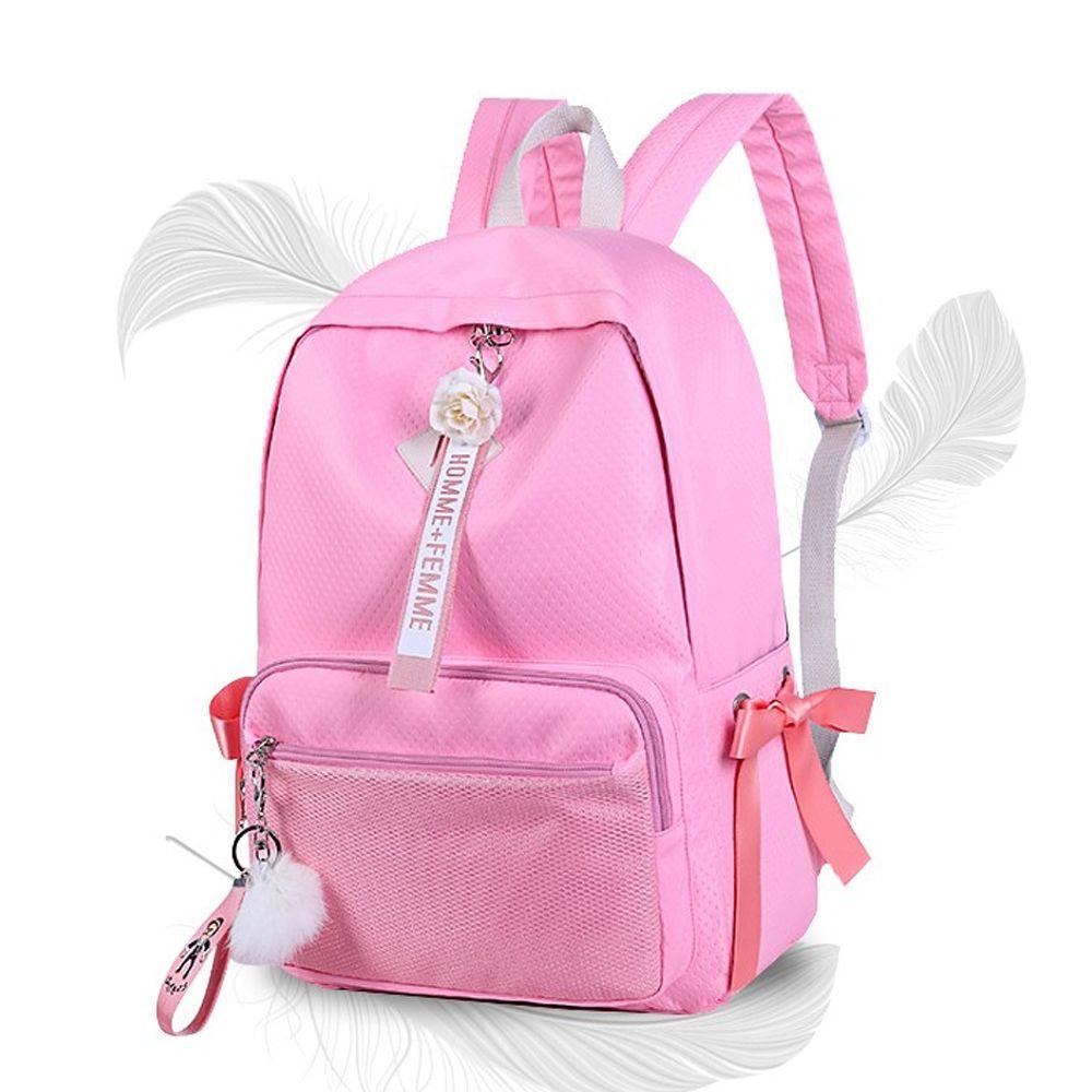 캐주얼 백팩 핑크 패션 중학생 고등학생 책가방 백팩