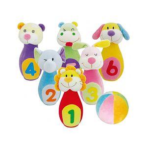 어린이 유아 교구 헝겊 동물 볼링 놀이 완구 장난감