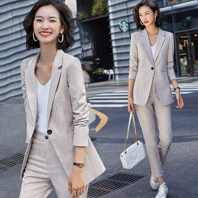 [해외] 여성 패션 재킷 자켓 정장세트이 긴팔 전문 정장