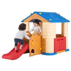 유아 놀이집 플레이 하우스 미끄럼틀 세트 블루