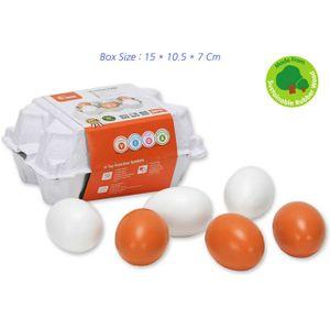 어린이집 교구 놀이 유아 키즈 장난감 모형 계란 6P