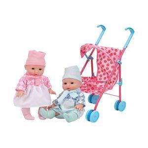 역할 소꿉 놀이 영유아 완구 인형 유모차 세트 장난감