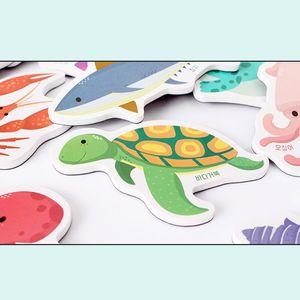 유아 아동 한조각 고무 자석 놀이 교구 Sea 바다 퍼즐