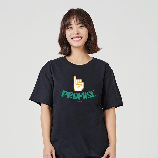 W 키밍 약속 여성 남성반팔셔츠 여자박스티셔츠