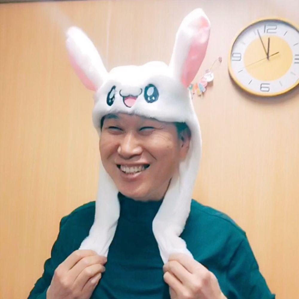 움직이는 토끼 귀 모자 아이돌 동물 산타 TV방영 정품