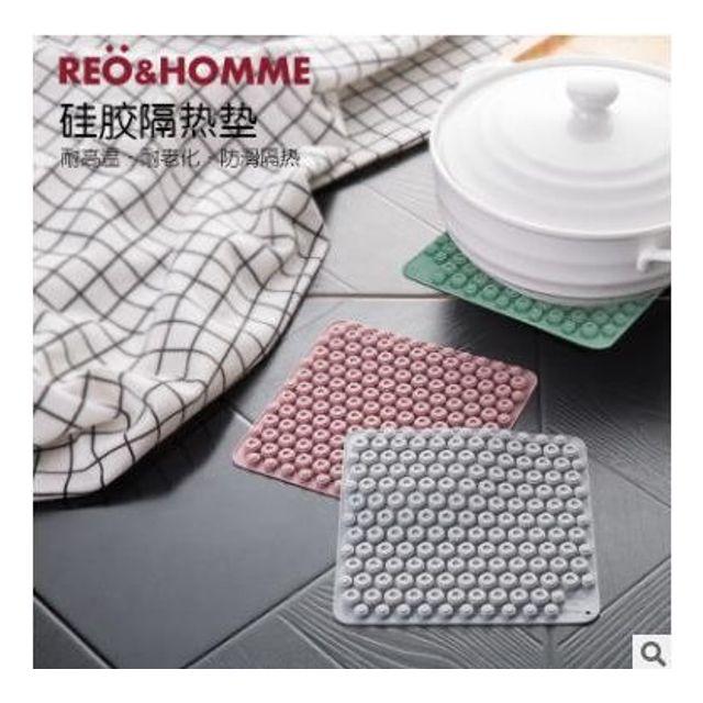 실리콘 단열매트 주방 냄비 받침 가정용 방열 매트1+1