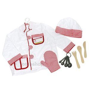 어린이집 역할 놀이 의상 소품 요리사 직업 옷입기
