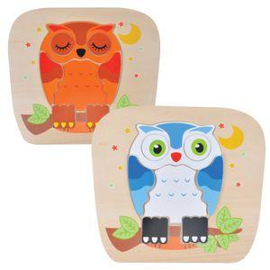 부엉이 퍼즐 모양 맞추기 놀이 교구 오감자극 장난감