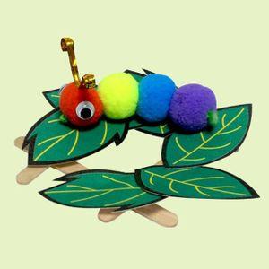 만들기움직이는 애벌레 만들기 10매