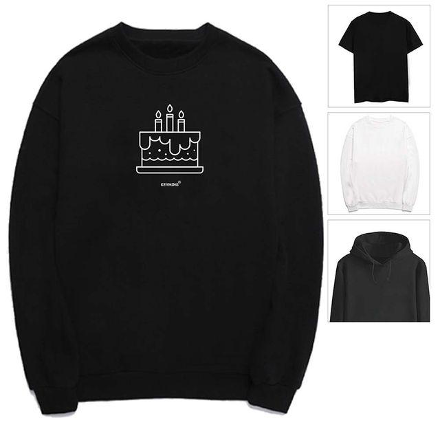 W 키밍 케이크 여성 남성 티셔츠 후드 맨투맨 반팔티