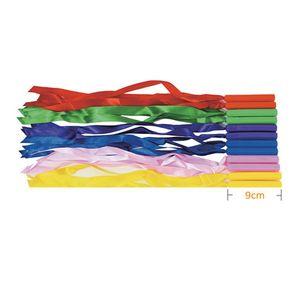 안전한 영아용 소프트 리본 막대 12개 소 아이 놀이