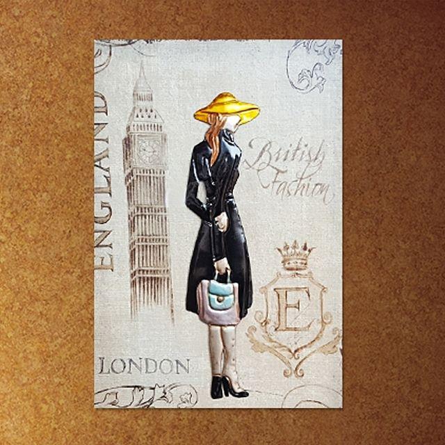 런던 레이디 액자 철제액자 액자 고급액자 집들이 선물