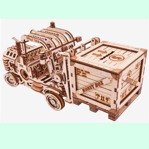 나무 조립 완구 모형 만들기 종이 입체 퍼즐 지게차
