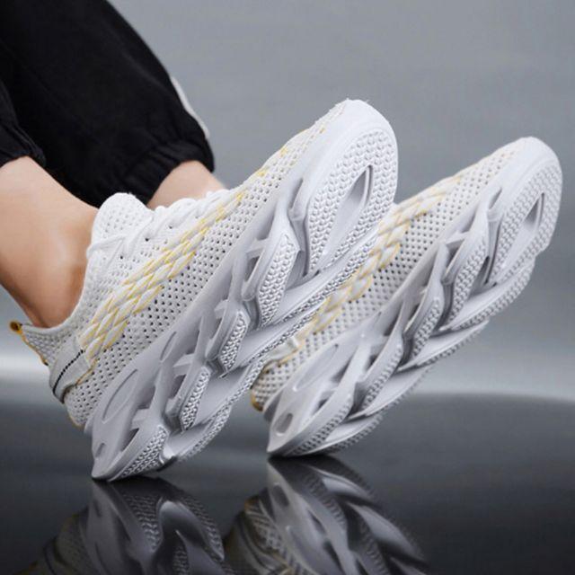W 패션운동화 밑창 포인트 디자인 매쉬 런닝화 남성신발