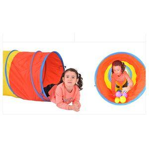 어린이집 키즈 유아 체육 운동 교구 4색 터널 놀이