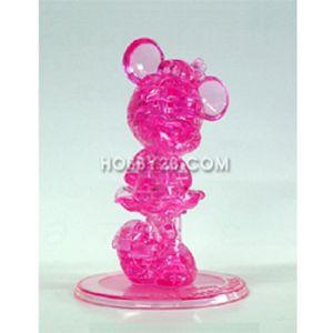 크리스탈 퍼즐 미니 마우스 핑크 43조각 어린이완구