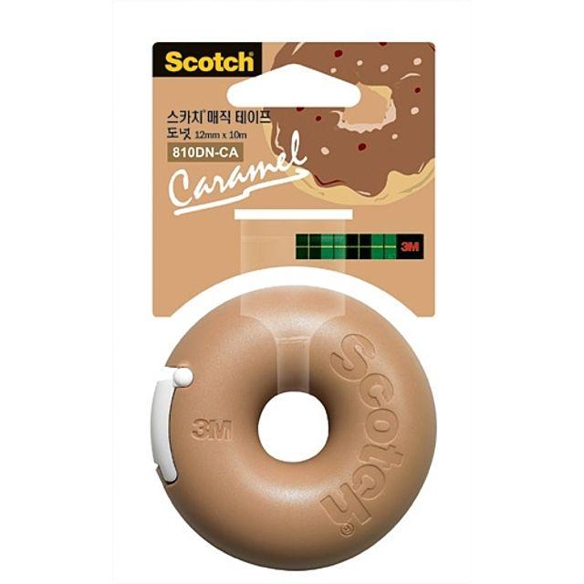 3M)매직테이프 도넛(카라멜_12mm×10m)-박스(120개입)
