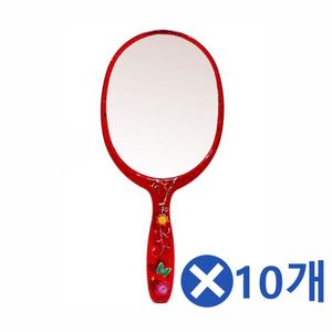 꽃무니 타원 손거울 중x10개-색상랜덤 거울판촉물