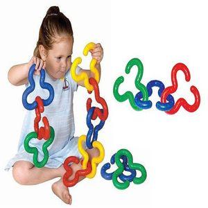 유아 어린이 소근육 발달 대형 퍼즐 연결 놀이 완구