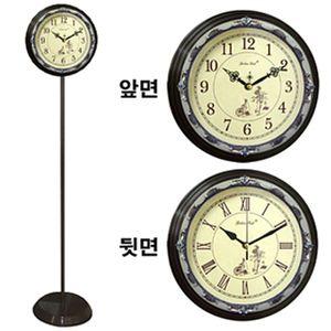 GB6058 무소음양면 스탠드시계 에폭시자전거 한국