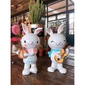 토끼 악기 인형 2P(9596)