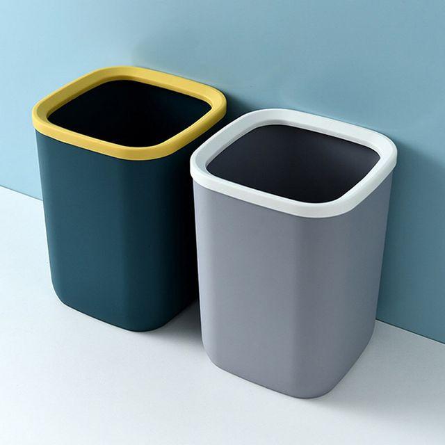 W 10리터 인테리어 오픈 쓰레기통 화장실 사각 휴지통