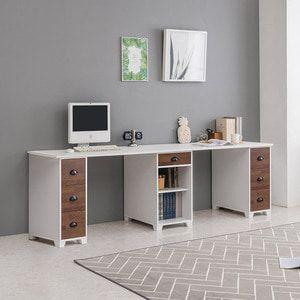 멀바우 2200 서랍본체형 2인용 책상 테이블 ddsd-137