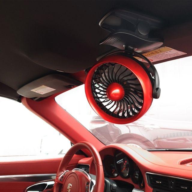 서큘레이터형 차량용 무선선풍기 클립형 다용도