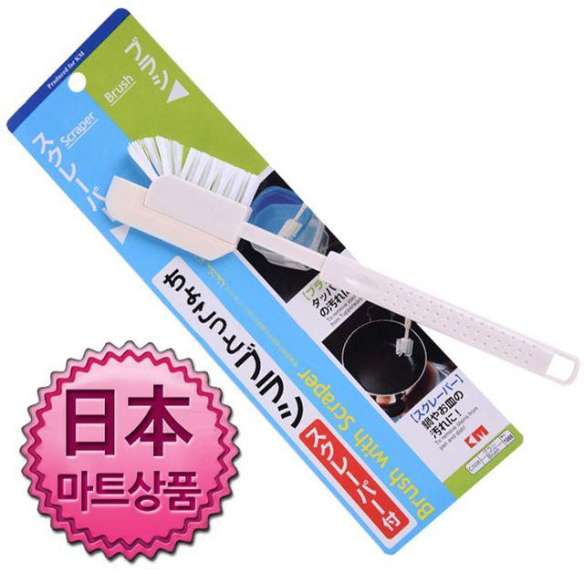 W 일본마트상품 스크래퍼 겸용 주방 세척솔 세척솔