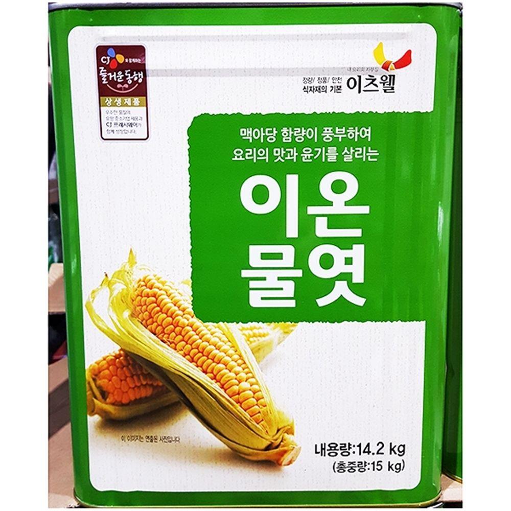 이츠웰 흰물엿 대용량식자재 물엿 (15KgX1개)