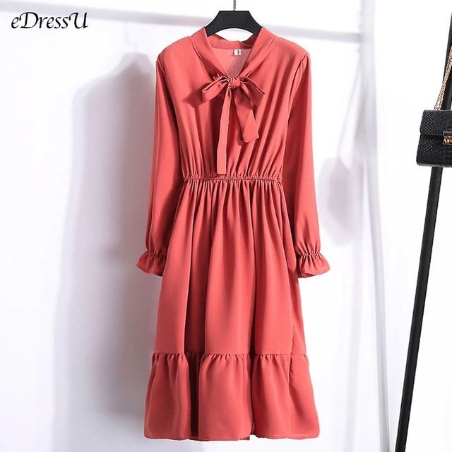 [해외] 29 색 여성 드레스 Office 레이디 봄 여름 드레스 쉬