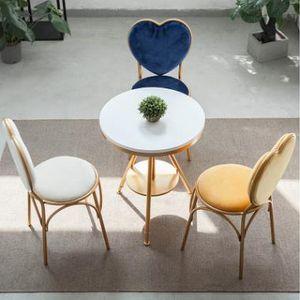 하트 벨벳의자 인테리어 의자 식탁의자 북유럽 모던