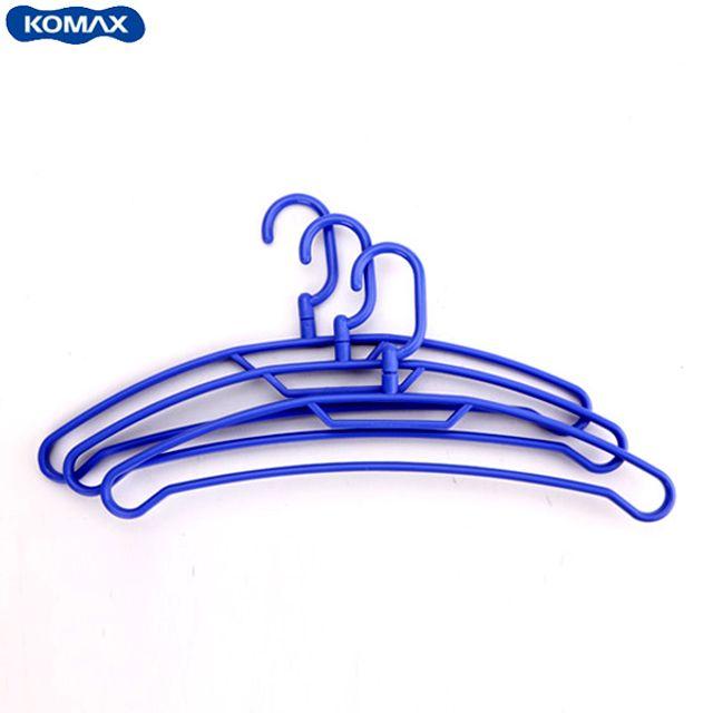 코멕스 센스 옷걸이(3pcs)-블루 [제작 대량 도매 로고 인쇄 레이저 마킹 각인 나염 실크 uv 포장 공장 문의는 네이뽕]