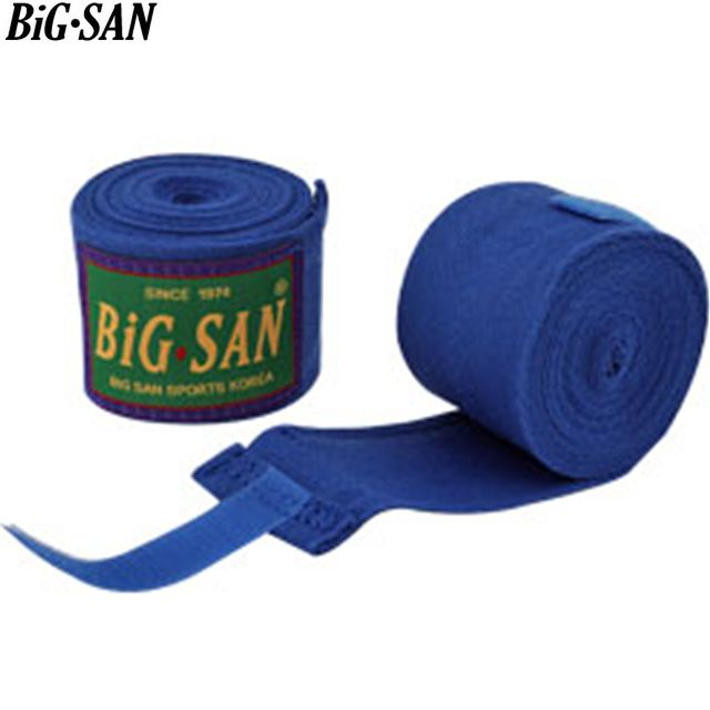 빅산 면 찍찍이 복싱 권투 핸드랩 붕대 블루 B1515