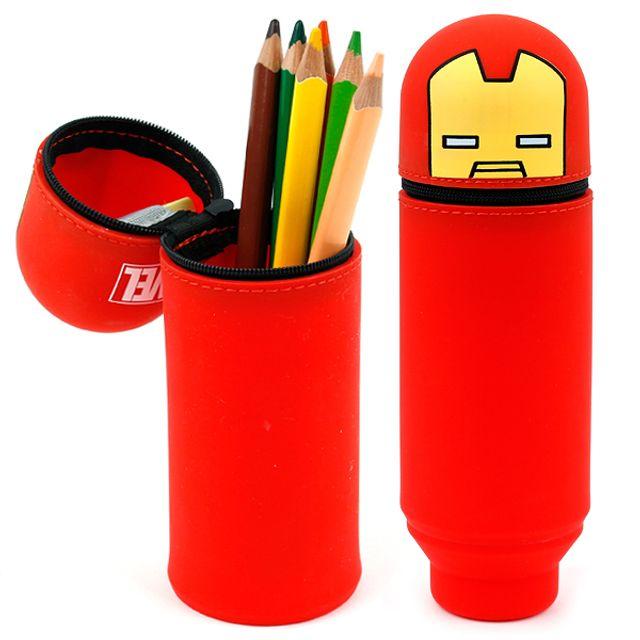 아이언맨 실리콘 멀티 파우치 필통 연필 지우개 볼펜 [제작 대량 도매 로고 인쇄 레이저 마킹 각인 나염 실크 uv 포장 공장 문의는 네이뽕]