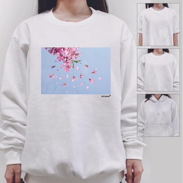 W 키밍 꽃바람 여성 남성 티셔츠 후드 맨투맨 반팔티