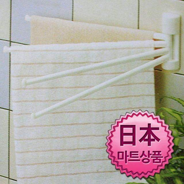W 일본마트상품 4단 접이식 타올 행주걸이