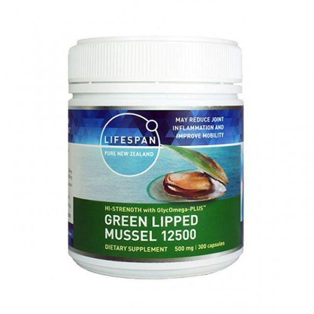 [해외] 라이프스팬 초록입홍합 분말 12500mg 300 식물성 캡슐
