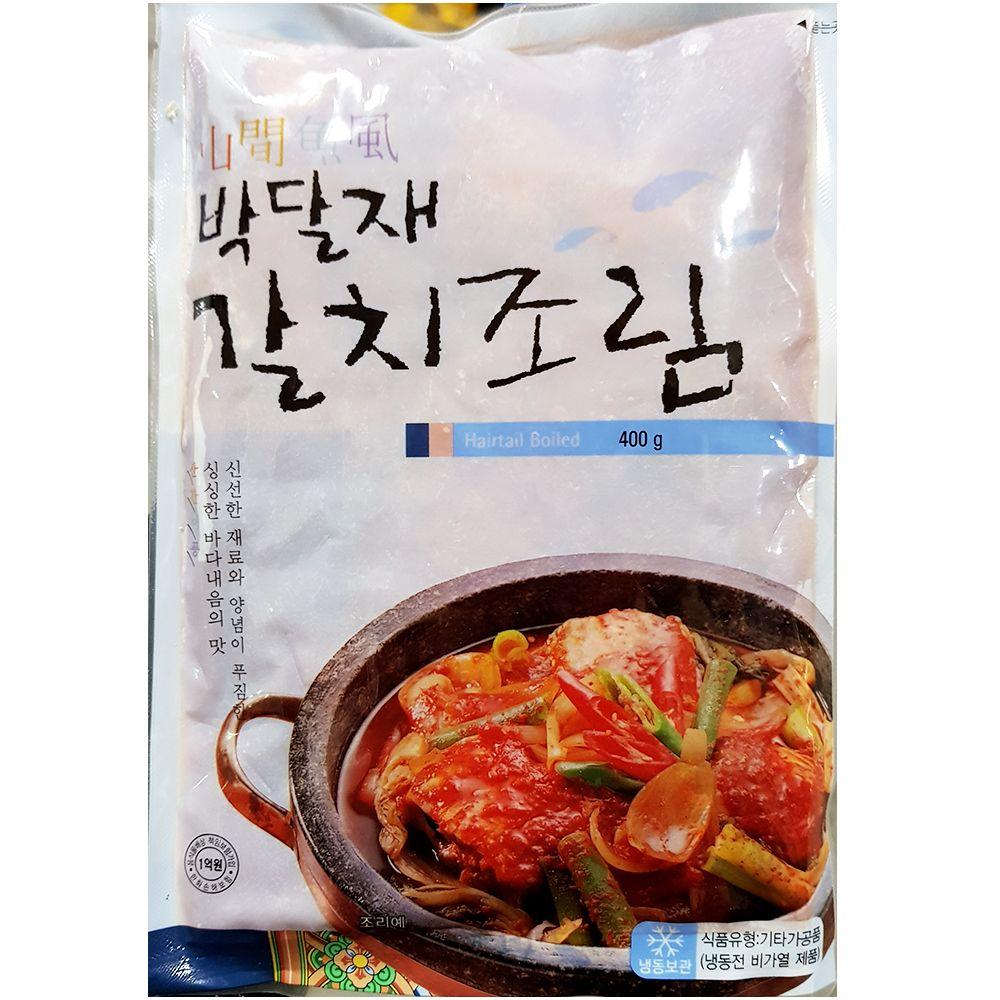 간편 즉석 조리식품 박달재 갈치조림 400g X 2_1 EA,갈치조림,탕조림,즉석식품,간식,안주