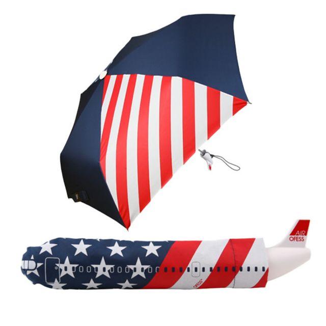 W 아이디어 비행기 3단 수동접이식 우산 수동우산