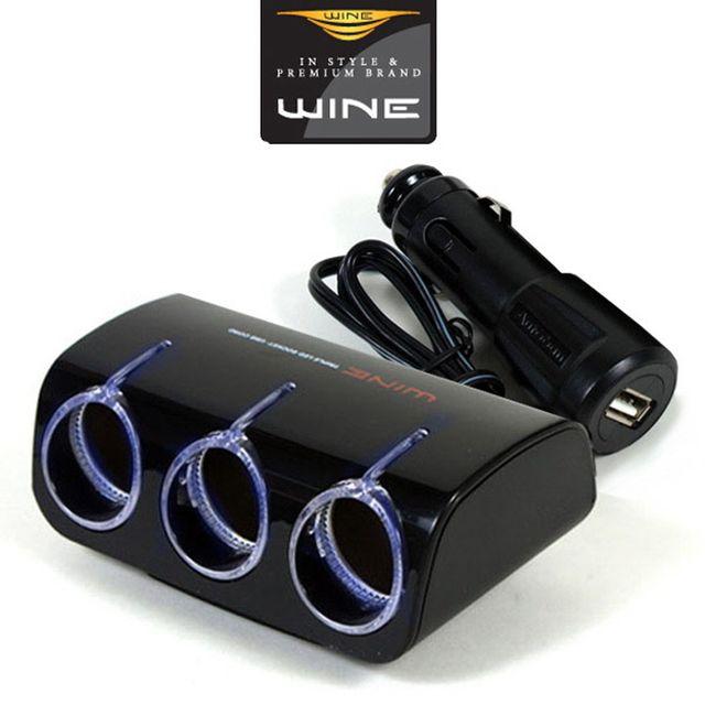 W 위네Z03 USB 1구 블루LED 3구확장 시거소켓
