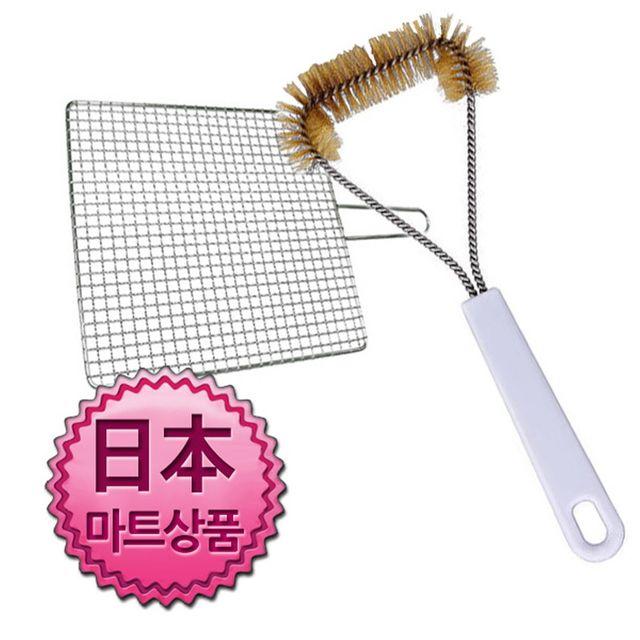 W 일본마트상품 석쇠 불판 세척용 쇠솔 세척솔 브