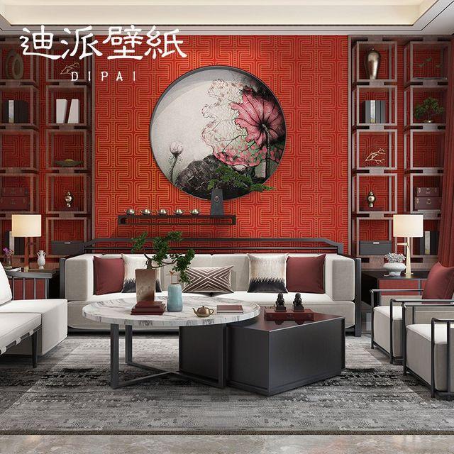 [해외] 실크벽지 중국 스타일의