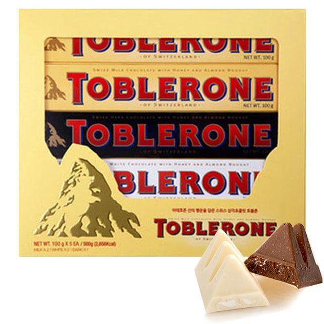 W28F75E토블론 초콜릿 100g (밀크 2+화이트2+다크1)5개,다크초콜릿,토블론초콜릿,토블론