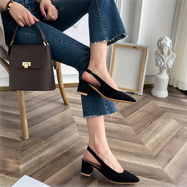 3컬러 여성 슬링백 스틸레토힐 키높이 구두 이쁜신발